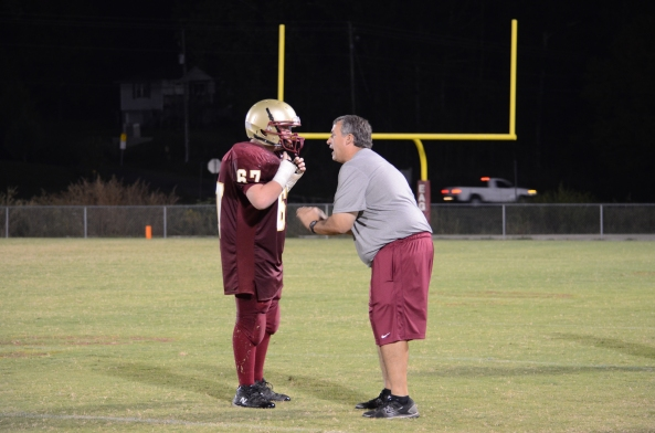 Coach Greg Patterson and his son.